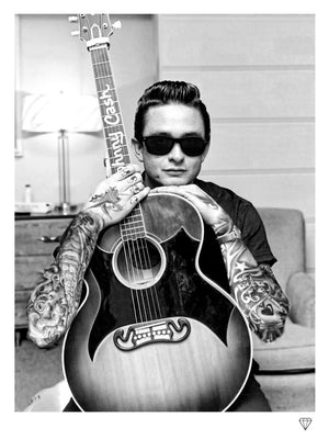 """Johnny Cash"" by JJ Adams (limited edition print) - New Look Art"