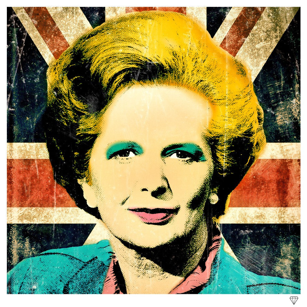 """Margaret Thatcher"" by JJ Adams (limited edition print) - New Look Art"