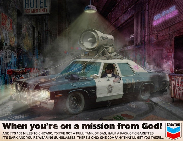 """When You're on a Mission From God"" by JJ Adams (limited edition print)"