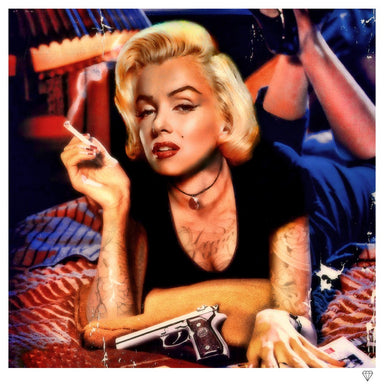 """Monroe Pulp Fiction"" by JJ Adams (limited edition print) - New Look Art"