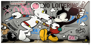 """Mouse Fight"" by JJ Adams (limited edition print) - New Look Art"
