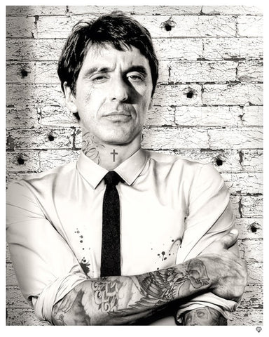 """Scarface Tattoo"" by JJ Adams (limited edition print) - New Look Art"