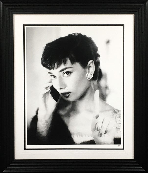 """Audrey Hepburn Selfie"" by JJ Adams (limited edition print)"