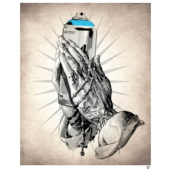 JJ Adams - 'S-Praying Hands' - Framed Limited Edition Print