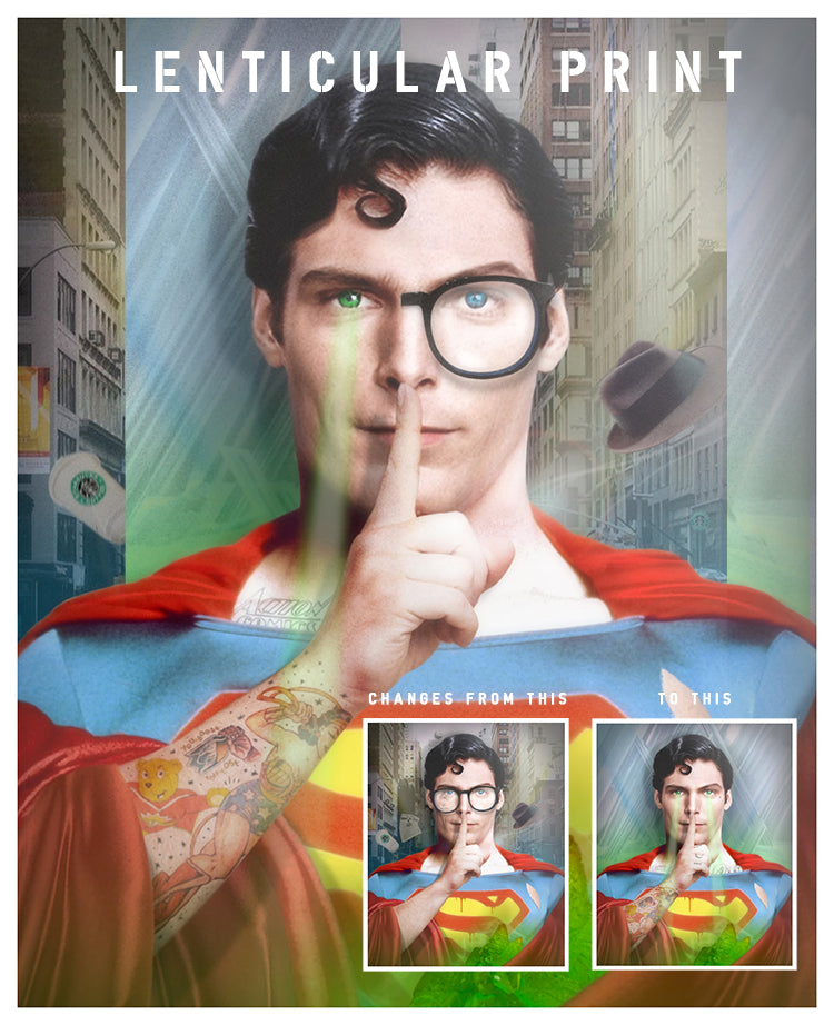 """Is It a Bird, Is it a Plane ? - Superman"" by JJ Adams (Limited Edition Lenticular Edition)"