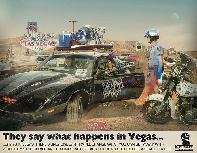 JJ Adams - 'What Happens in Vegas, Stays in Vegas' - Limited Edition Print