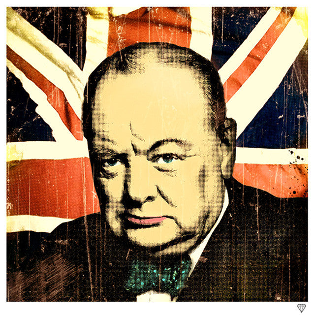 """Winston Churchill"" by JJ Adams (limited edition print)"