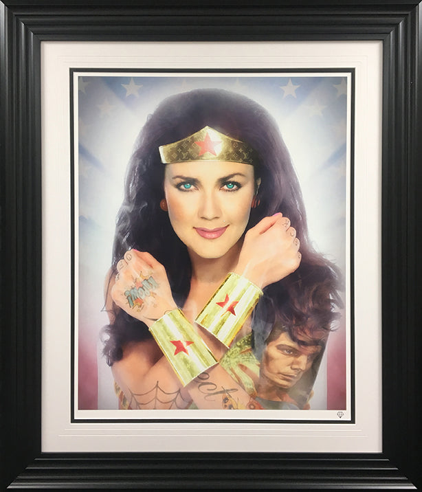 JJ Adams - 'Wonder Woman - Colour' (Tattoo Series) - Limited Edition Print