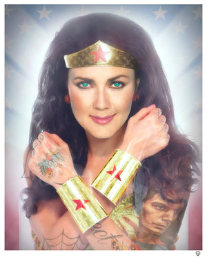 """Wonder Woman - Colour"" (Tattoo Series) by JJ Adams (limited edition print)"