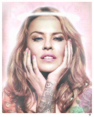 JJ Adams - 'Kylie Minogue - Colour' (Tattoo Series) - Limited Edition Print