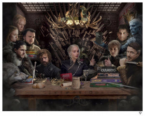 "JJ Adams - ""Board - Game of Thrones"" (Colour) - Limited Edition Print"