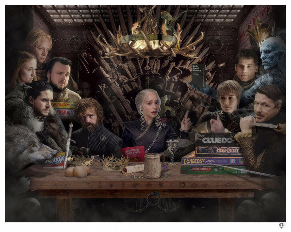 JJ Adams - 'Board - Game of Thrones' (Colour) - Limited Edition Print