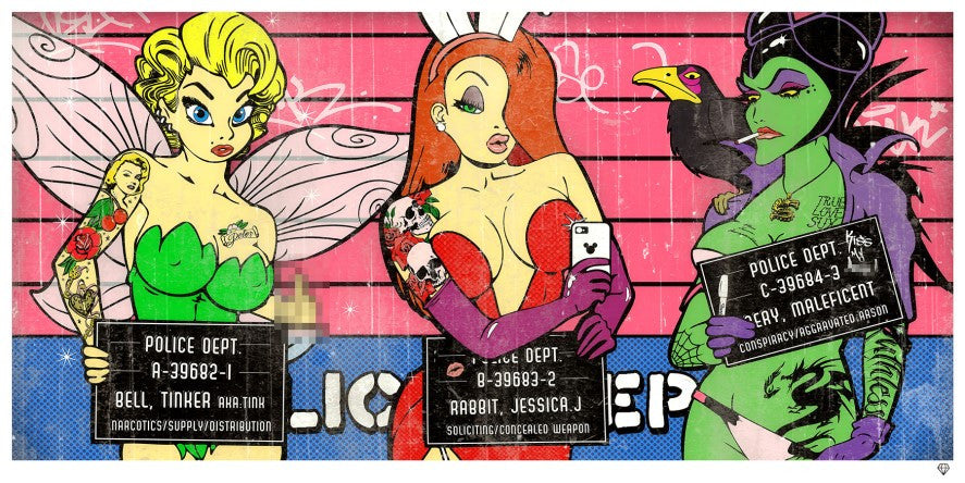 """Double ""D"" Dirty Disney II"" by JJ Adams (limited edition print) - New Look Art"