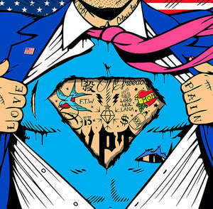 """Is it a Bird ?"" Superman Pop Art by JJ Adams Limited Edition Print"