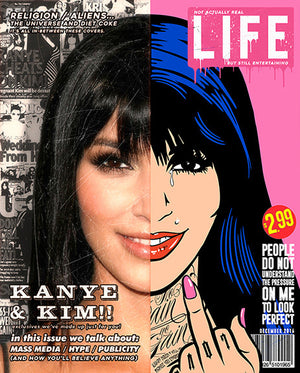 """Kim"" - Magazine Cover by JJ Adams"