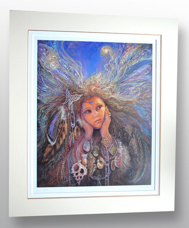 """Magpie Fairy"" by Josephine Wall (limited edition print) - New Look Art"