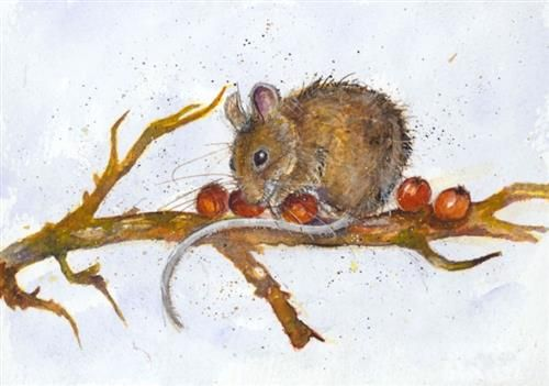 Kate Wyatt - 'Wood Mouse Feast II' - Limited Edition Art