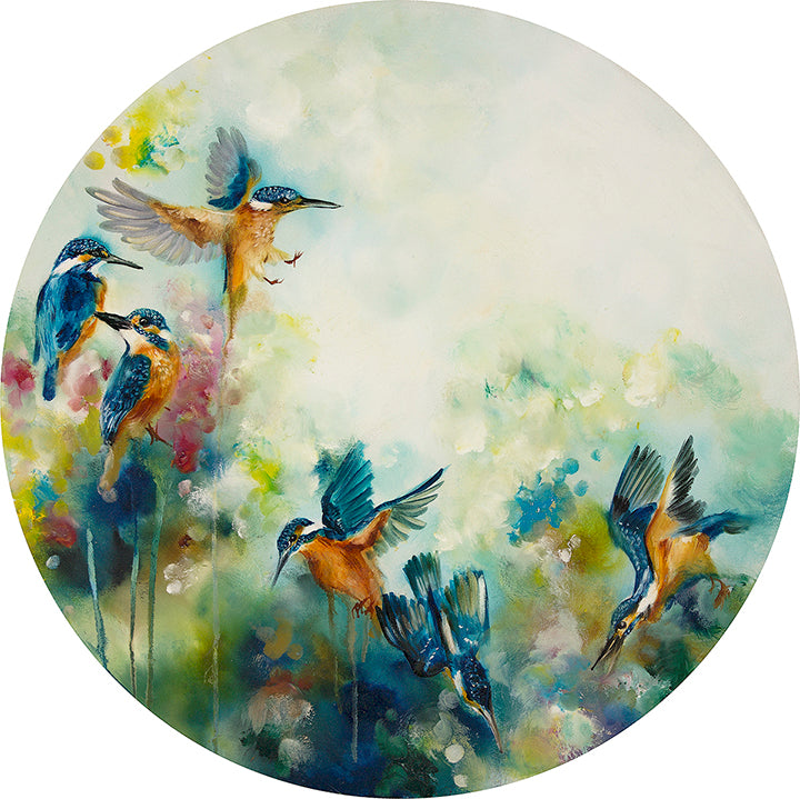 """Concentration"" (Kingfishers) by Katy Jade Dobson (limited edition print)"