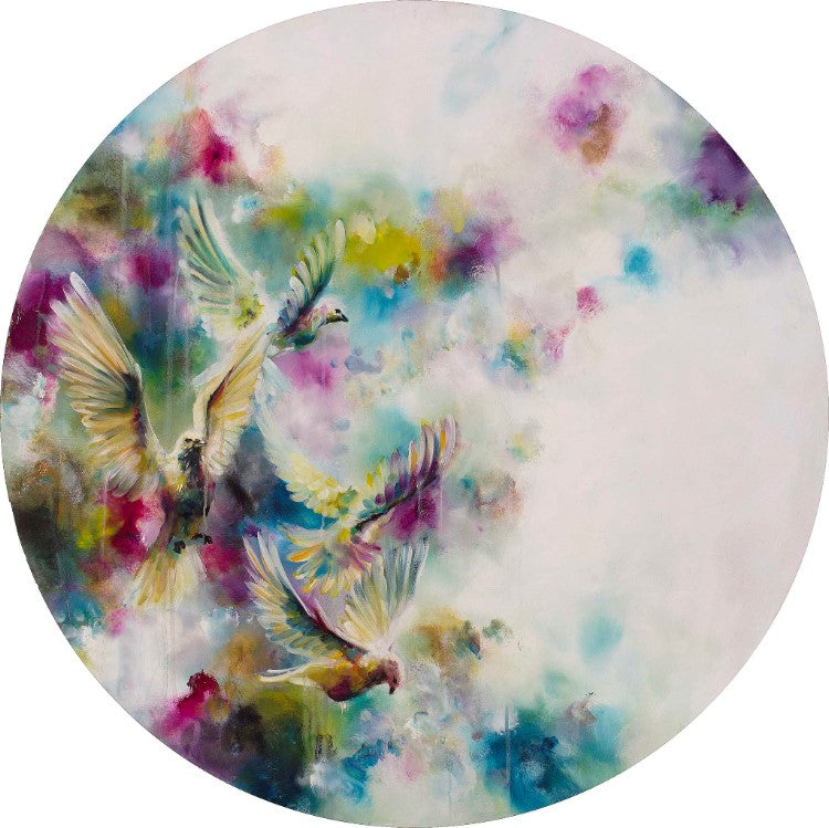 """Dawn"" (Doves) by Katy Jade Dobson (limited edition print)"