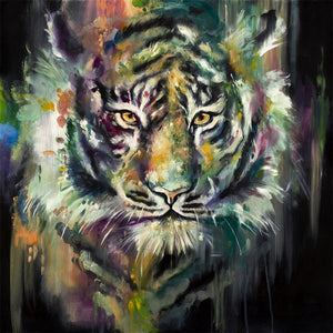 """Felid I - Siberian Snow Tiger"" by Katy Jade Dobson (limited edition print) - New Look Art"