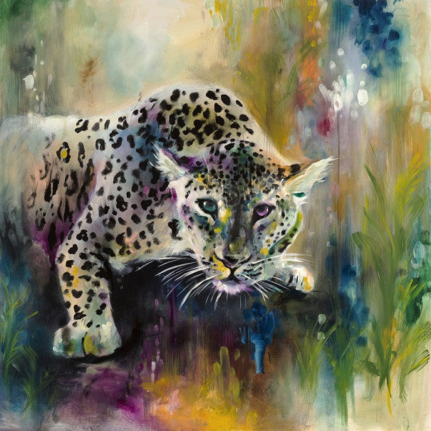 """Felid II - Jungle Leopard"" by Katy Jade Dobson (limited edition print) - New Look Art"