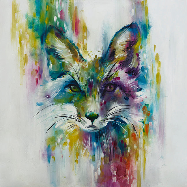 """Fox (Chase)"" and ""Hare (Escape)"" by Katy Jade Dobson (large mounted limited edition prints) - SPECIAL OFFER"