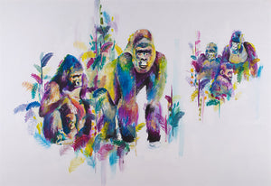 """Gorillas in the Mist"" by Katy Jade Dobson (limited edition print) - New Look Art"