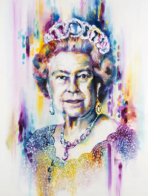 """Her Majesty"" by Katy Jade Dobson (limited edition print) - New Look Art"