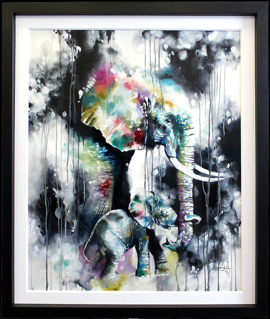 """Hold On (Elephant & Baby) "" by Katy Jade Dobson"