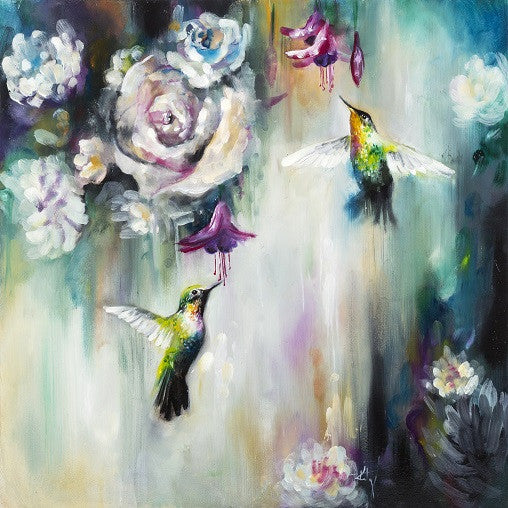 """Hummingbirds"" by Katy Jade Dobson (limited edition print) - New Look Art"