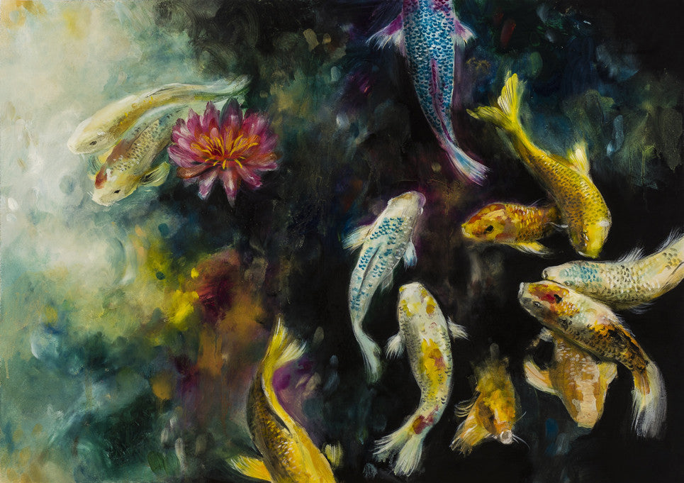 """Koi"" by Katy Jade Dobson (limited edition print) - New Look Art"