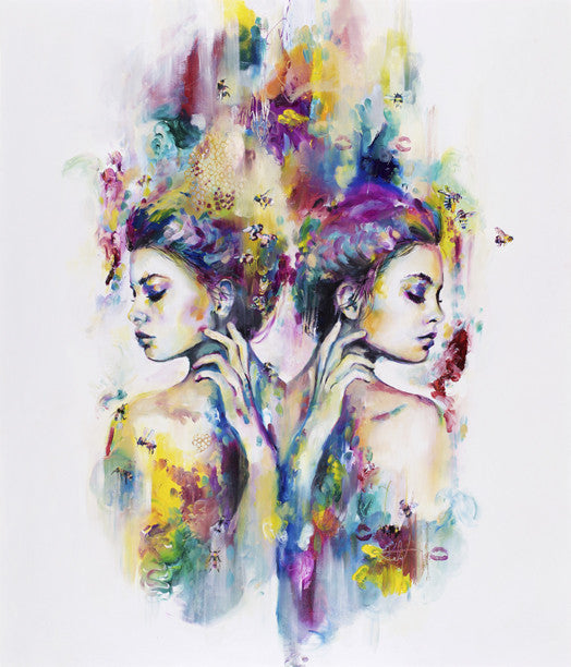 """Nectar of the Gods"" by Katy Jade Dobson (FRAMED limited edition print) - New Look Art"