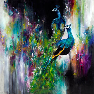 """Opulent Peacocks"" by Katy Jade Dobson (limited edition print) - New Look Art"
