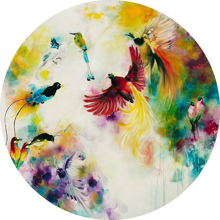 Katy Jade Dobson - 'Paradise' (Birds of Paradise) - Original Oil Painting