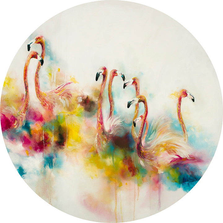 Katy Jade Dobson - 'Plumage' (Flamingos) - Original Oil Painting