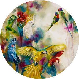"""Pretty Polly"" (Parrots and Parakeets) by Katy Jade Dobson (limited edition print)"
