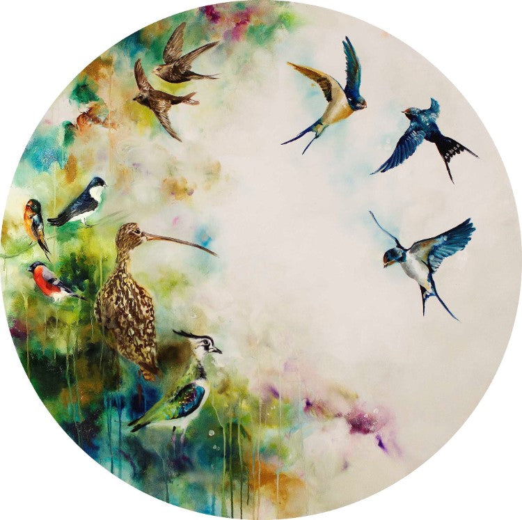 """Solstice"" (Swifts) by Katy Jade Dobson (limited edition print)"