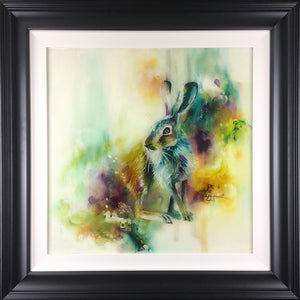 """Whiskers"" by Katy Jade Dobson (framed original oil painting)"