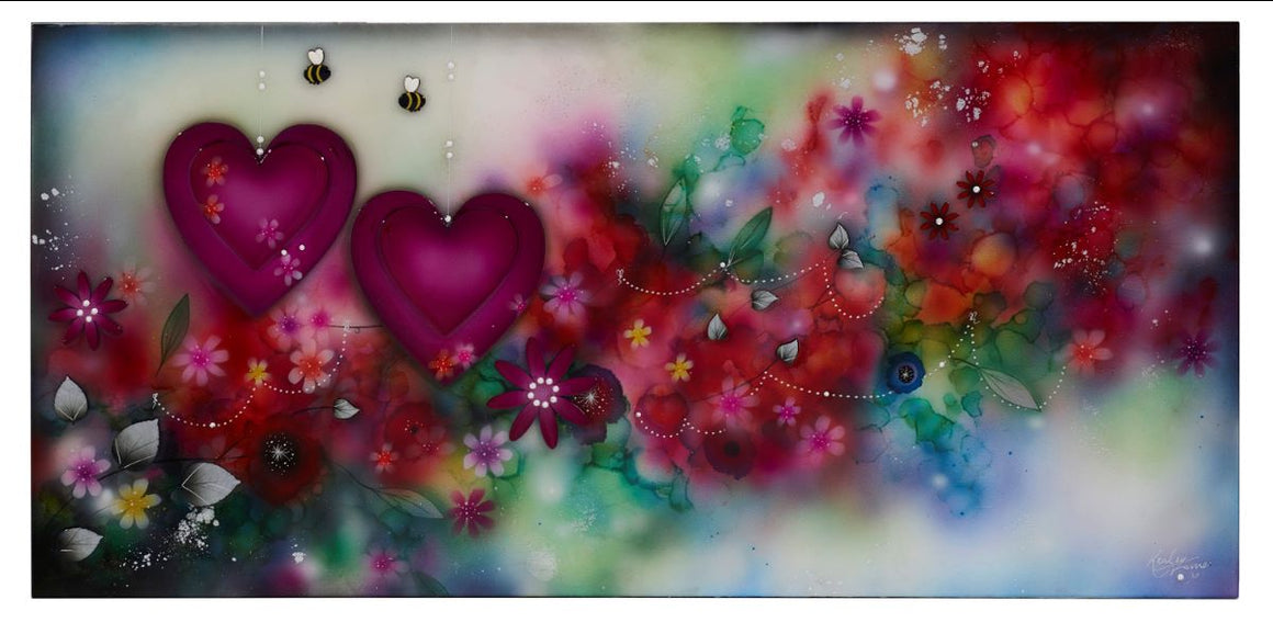 """Where Love Goes"" by Kealey Farmer (framed limited edition artwork)"