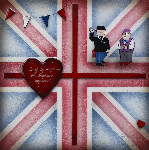 Kealey Farmer - 'Britannia Mr Benn' - Original and Limited Edition Art