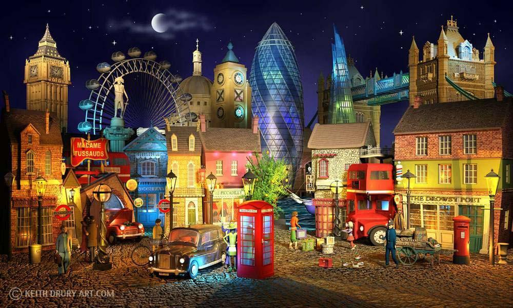 """London's Magic"" by Keith Drury (limited edition artwork)"