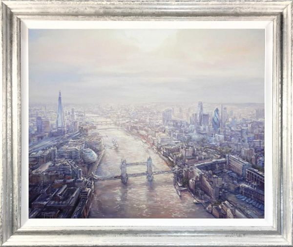 Mariusz Kaldowski - 'London Birds Eye View' - Original Art