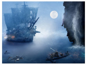 """My Spirit Will Live On' (Pirates of The Caribbean) by Mark Davies (Framed Limited Edition Print)"