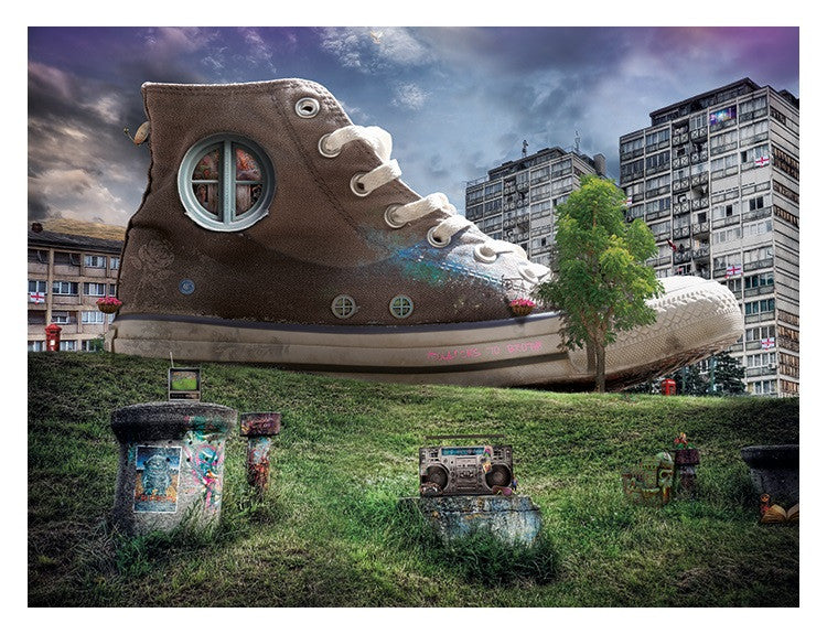 """The Greengrocers Daughter (Woman who Lived in a Shoe)"" by Mark Davies (limited edition print) - New Look Art"