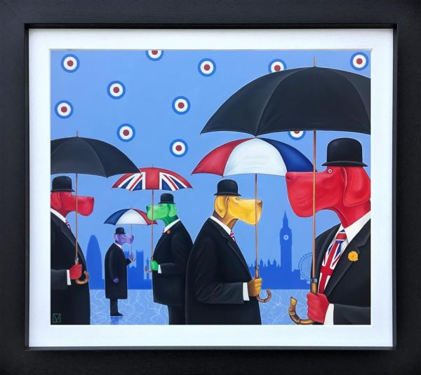 Michael Abrams - 'A Rainy Day In London Town' - Original Art
