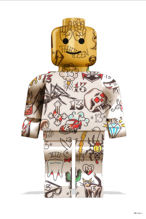 Monica Vincent - 'Graffiti Lego Man' - Limited Edition Print