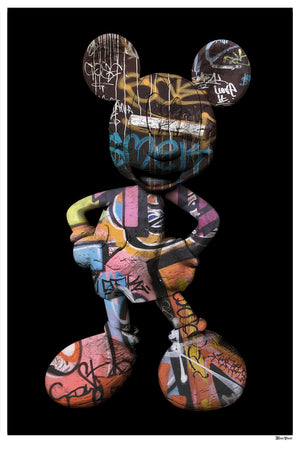 Monica Vincent - 'Graffiti Mickey' - Limited Edition Print