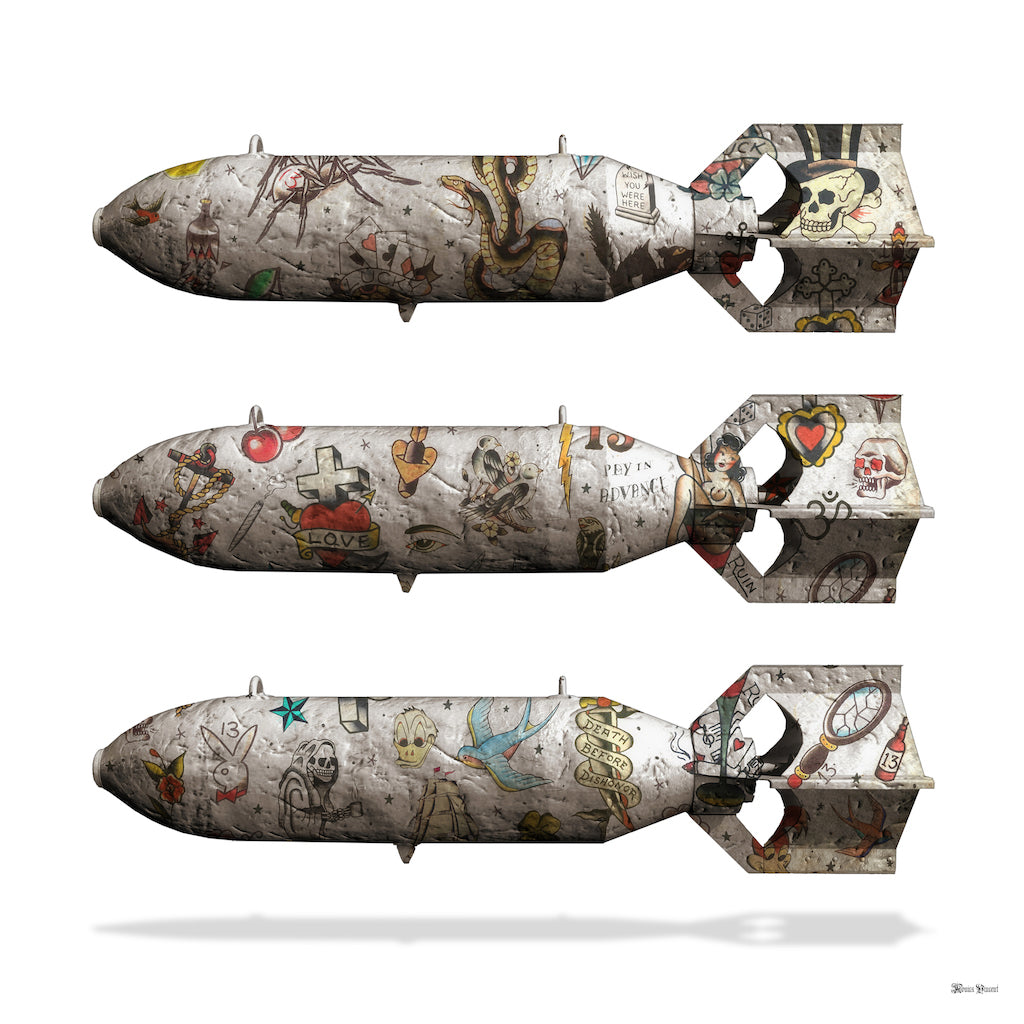 Monica Vincent - 'Tattoo Bombs' - Limited Edition Print