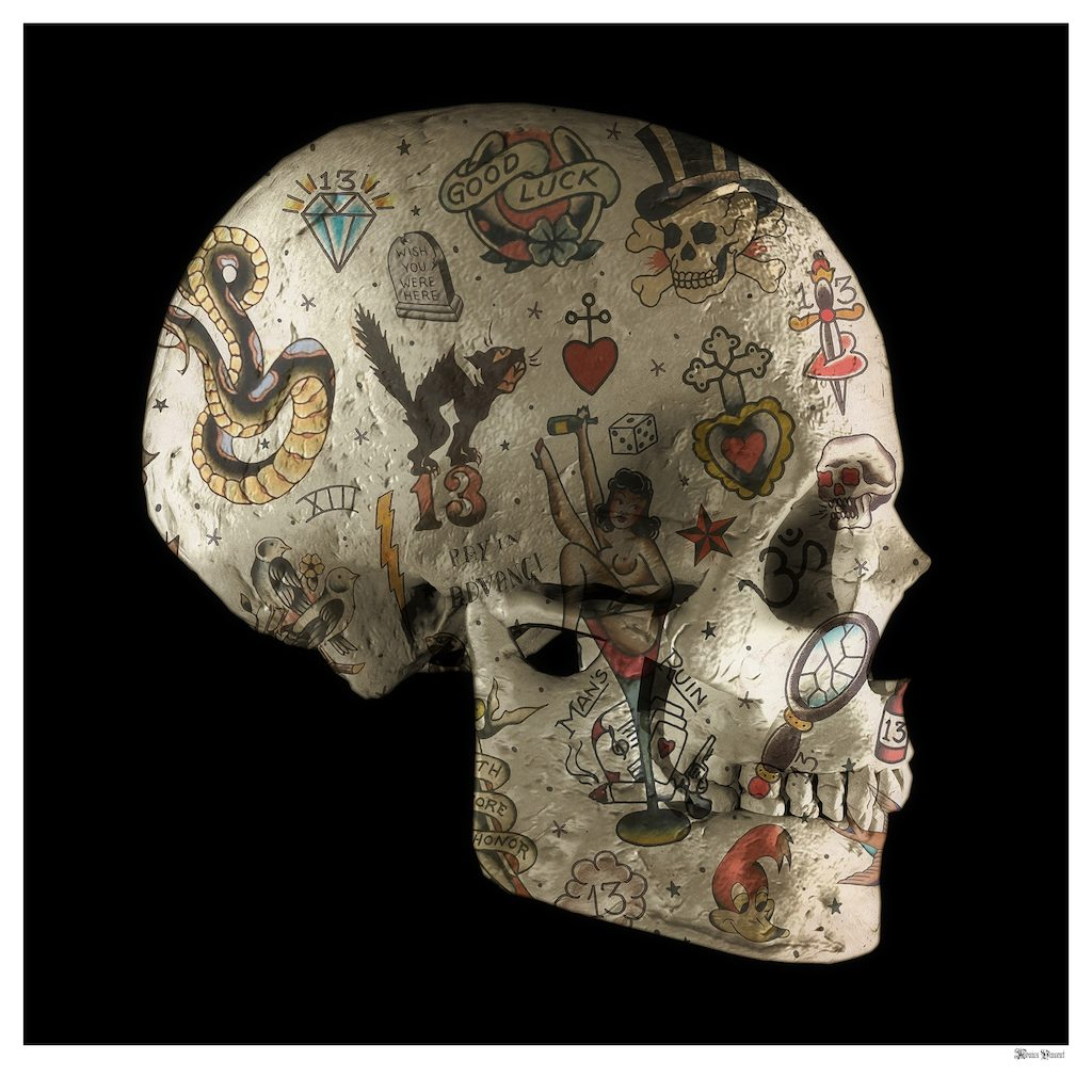 Monica Vincent - 'Tattoo Skull Side' - Limited Edition Print