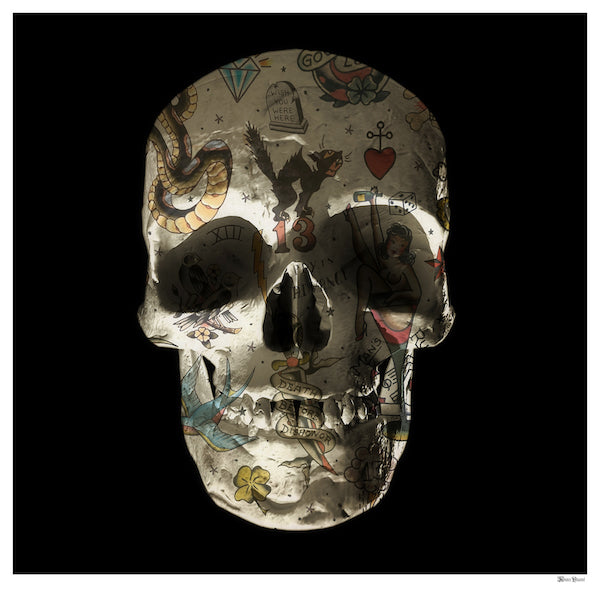 Monica Vincent - 'Tattoo Skull' - Limited Edition Print